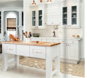 white-kitchen-cabinets-island-Lawrenceville-ga