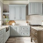kitchen-remodel-in-Lawrenceville-ga-kraftmaid-seafoam-blue-maple-cabinets-kitchen-island